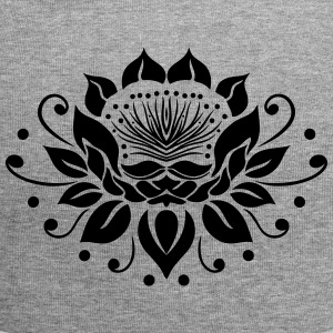 Large lotus flower in tattoo style. - Jersey Beanie