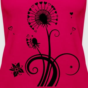 Dandelion with hearts. - Women's Premium Tank Top