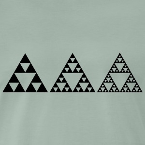 Sierpinski Triangle, Fractal, Mathematics, Math,  - Men's Premium T-Shirt