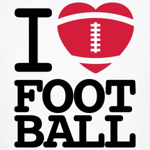 I love football  T-shirts - Mannen Bio-T-shirt