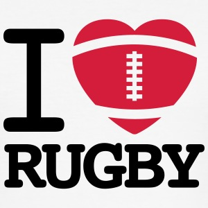 I love Rugby Tee shirts - Tee shirt près du corps Homme