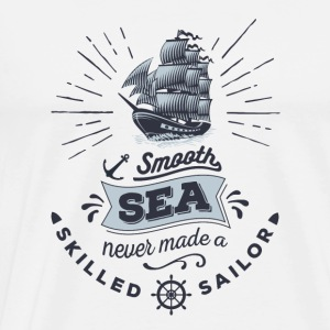 Anker smooth sea sailor Camisetas - Camiseta premium hombre