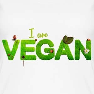 I am vegan - Frauen Bio Tank Top