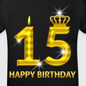 15-happy birthday - birthday - number gold Shirts - Kids' Organic T-shirt