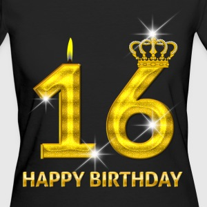 16 - Happy Birthday - Geburtstag - Zahl Gold T-Shirts - Frauen Bio-T-Shirt