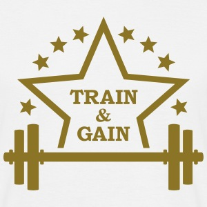 Train + gain Fitness Gym Workout Trening T-skjorter - T-skjorte for menn