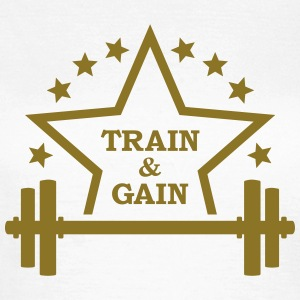 Train + gain  Fitness Dumbbell Vægte Squat Muskel  T-shirts - Dame-T-shirt