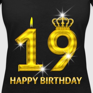 19-happy birthday - birthday - number gold T-Shirts - Women's V-Neck T-Shirt