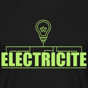 logo electricite Tee shirts - T-shirt Homme