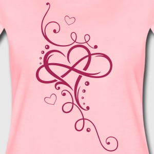 Tribal Heart with large infinity loop - Women's Premium T-Shirt