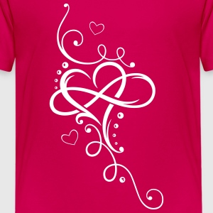 Tribal Heart with large infinity loop - Teenage Premium T-Shirt