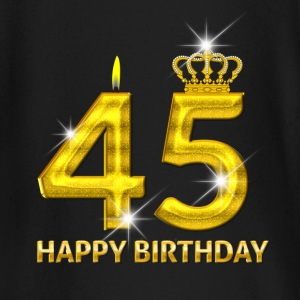 45 - happy birthday - birthday - number gold Baby Long Sleeve Shirts - Baby Long Sleeve T-Shirt