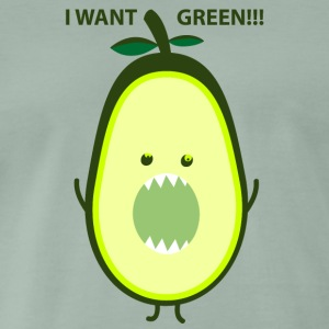 I want green T-skjorter - Premium T-skjorte for menn