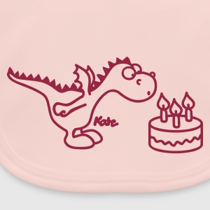 Rosa Happy Birthday, Little Dragon Accessoarer - Ekologisk babyhaklapp