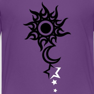 Tattoo with sun, moon and stars. - Teenage Premium T-Shirt