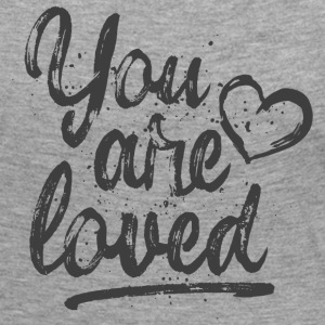 You are loved mit Herz - grau Langarmshirts - Frauen Premium Langarmshirt