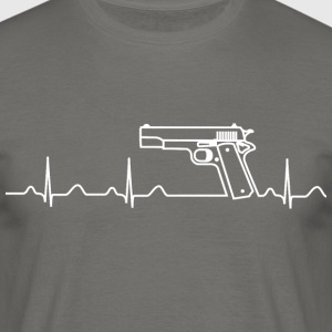 T-Shirt, Heartbeat, Pistole, Colt Government - Männer T-Shirt