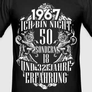1967-50 years - experience - 2017 - DE T-Shirts - Men's Slim Fit T-Shirt