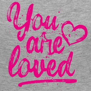 You are loved mit Herz - pink Langarmshirts - Frauen Premium Langarmshirt