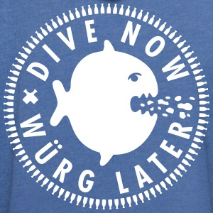 dive now würg later - Leichtes Kapuzensweatshirt Unisex