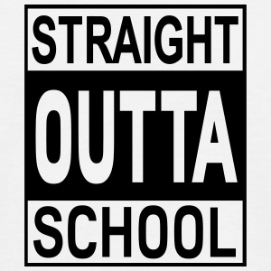 Straight Outta School - Männer T-Shirt