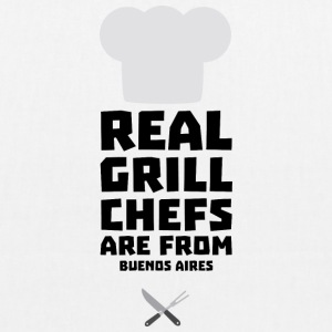 Real Grill Chefs are from Buenos Aires S533t Bags & Backpacks - EarthPositive Tote Bag
