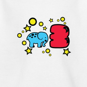 3. fødselsdag elefant T-shirts - Teenager-T-shirt