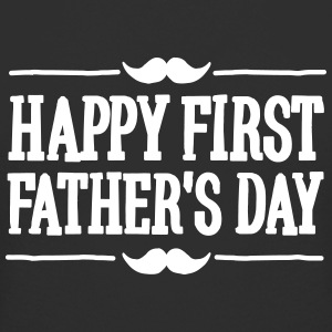 Happy 1st  ( first ) father's day  T-Shirts - Men's Long Body Urban Tee