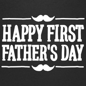 Happy 1st  ( first ) father's day  Tee shirts - T-shirt Homme col V