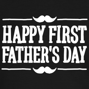 Happy 1st  ( first ) father's day  T-Shirts - Men's Ringer Shirt