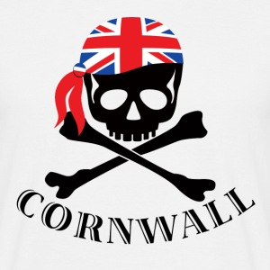 White Cornish pirate Men's T-Shirts - Men's T-Shirt