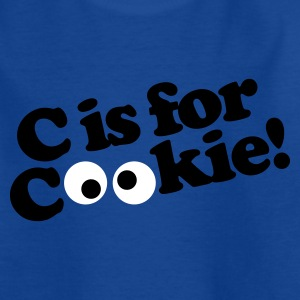 Royal blue C is for Cookie Kids' Shirts - Teenage T-shirt