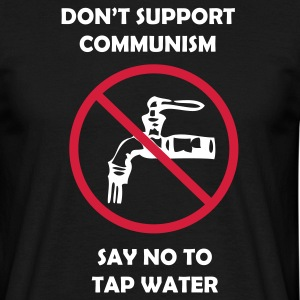 Svart Say NO to tapwater! T-shirts - T-shirt herr
