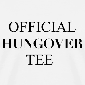 Official Hungover Tee T-shirts - Herre premium T-shirt