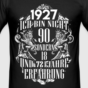1927-90 years of experience - 2017 - DE T-Shirts - Men's Slim Fit T-Shirt