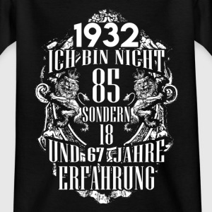 1932-85 års erfaring - 2017 - DE T-shirts - Teenager-T-shirt