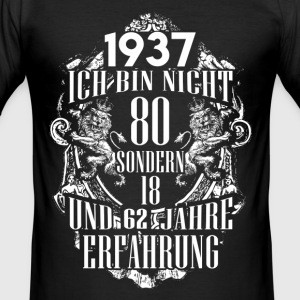 1937-80 years of experience - 2017 - DE T-Shirts - Men's Slim Fit T-Shirt