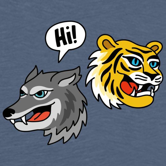 Hi, Wolf & Tiger! T-Shirt für Männer
