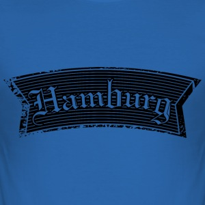 Hamburg Black T-Shirts - Männer Slim Fit T-Shirt