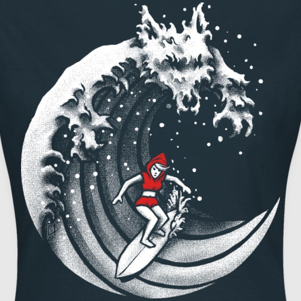 Navy Little Red Surfing Hood T-Shirts - Frauen T-Shirt