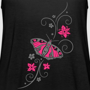 Schmetterling mit filigranem Tribal - Frauen Tank Top von Bella