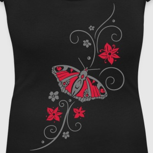 Big colorful butterfly with filigree tribal. - Women's Scoop Neck T-Shirt