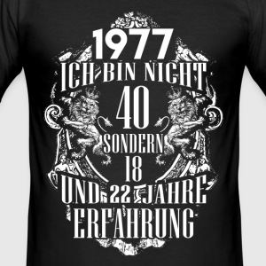 1977-40 years of experience - 2017 - DE T-Shirts - Men's Slim Fit T-Shirt
