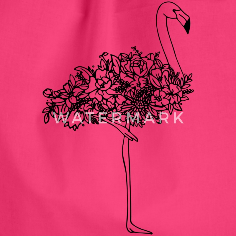 Turnbeutel Flamingo - Turnbeutel