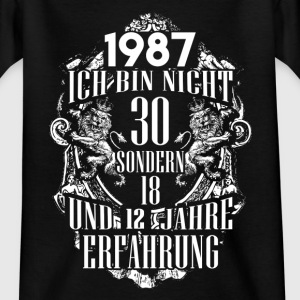 1987-30 års erfaring - 2017 - DE T-shirts - Teenager-T-shirt