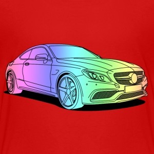cool car colourful T-shirts - Børne premium T-shirt