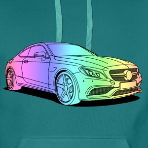 cool car colourful Sweat-shirts - Sweat-shirt à capuche Premium pour hommes