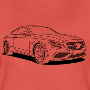 cool car outlines T-shirts - Dame premium T-shirt