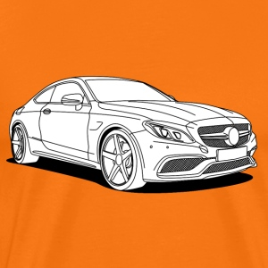 cool car white T-shirts - Herre premium T-shirt