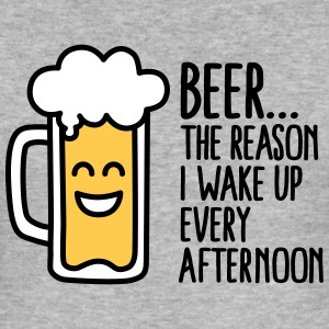 Beer is the reason I wake up every afternoon T-shirts - Slim Fit T-shirt herr